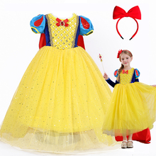 2-10T Snow White main Christmas Halloween Cosplay costume children princess performance clothing girls christmas dress