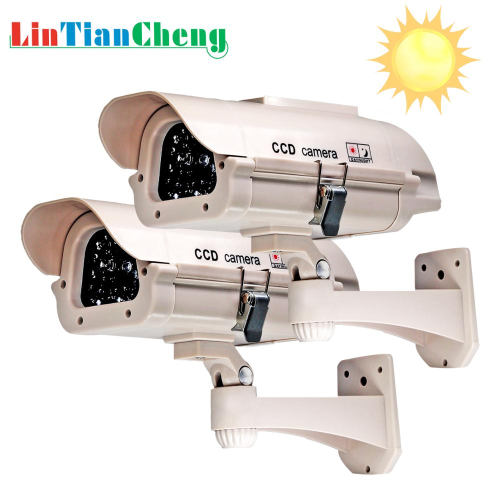 Outdoor Dummy Camera Bullet Powered  Home/street Security Video Surveillance  Fake Camera Solar Free Shipping