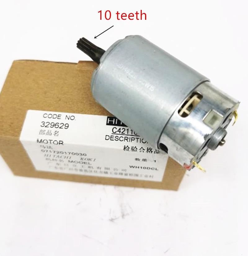 10 Teeth Motor   Engine 329629 For HITACHI WH10DCL Cordless Drill Driver  Batt-Oper Screwdriver  Power Tools