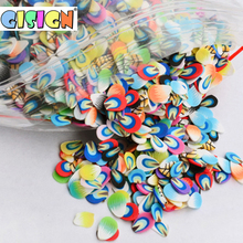 Slices-Filler Charm Slime Fruit Nail-Art Slime-Accessories-Supplies Decoration for 1000pcs