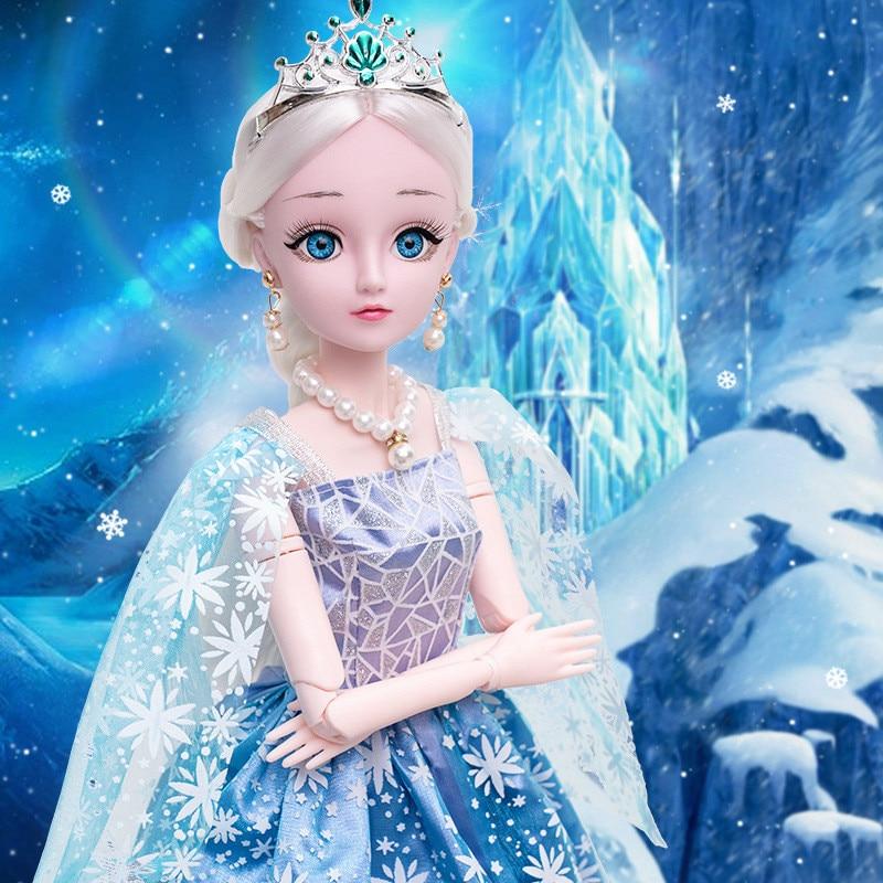 60 см кукла 1/3 Bjd кукла 20 подвижных шарнирных кукол красивые глаза с длинными волосами красивые игрушки для макияжа для девочек съемный Сюрпр...
