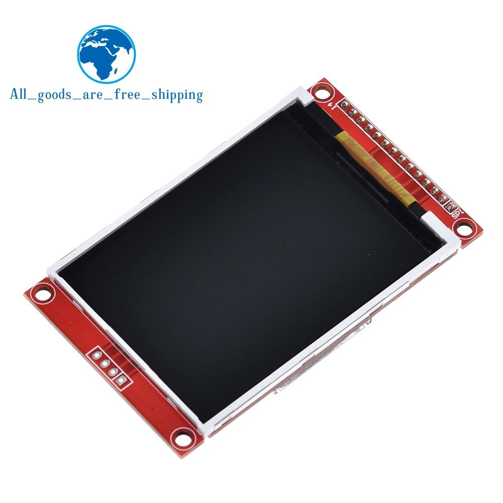 """2.8 """"240x320 spi tft lcd módulo de porta serial com adaptador pcb micro sd ili9341 5v/3.3v 2.8 polegada display led para arduino"""