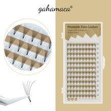 GAHAMACA Lashes Premade Wide Fans 2d/3d/4d/5d/6d Short Stem Individual Russian Volume Eyelash Extensions Faux Mink Makeup Tool