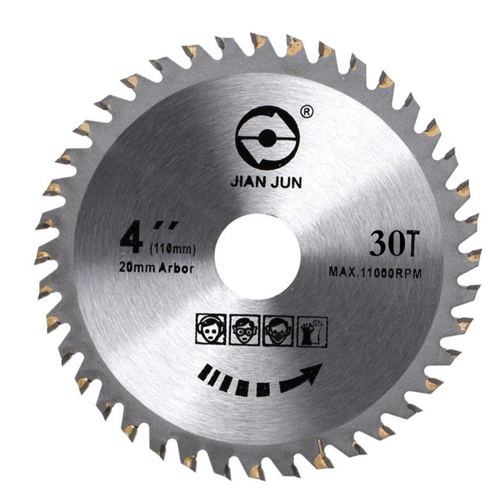 4 Inch 30T/40T Circular Sawing Blades Wood Cutting Round Discs Hard Alloy Steel Circular Sawing Blade For Grinder Cutter