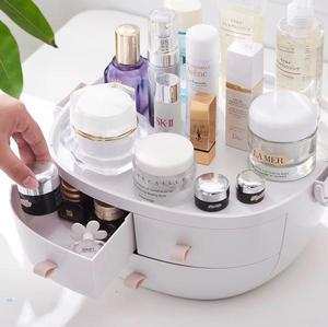 Image 3 - JULYS SONG Caja de almacenaje para maquillaje, organizador de cosméticos portátil, contenedor de maquillaje grande, estuche de almacenamiento para baño, de escritorio
