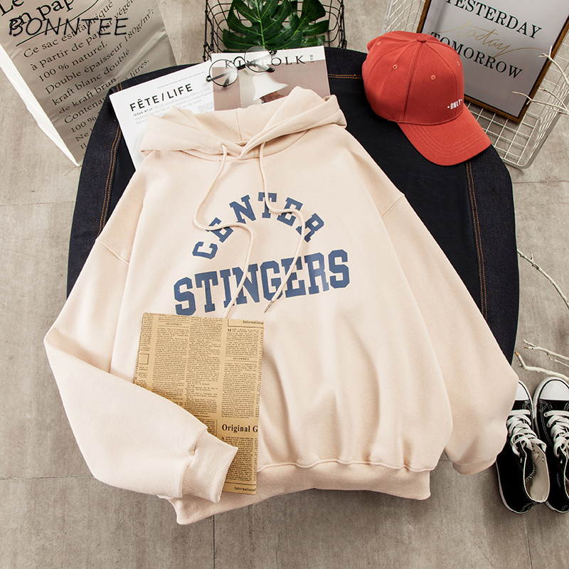 Hoodies Women Large Size Leisure Letter Printed Long Sleeve Hooded Womens Pullover Soft Cotton Korean Style Ladies Sweatshirts 2