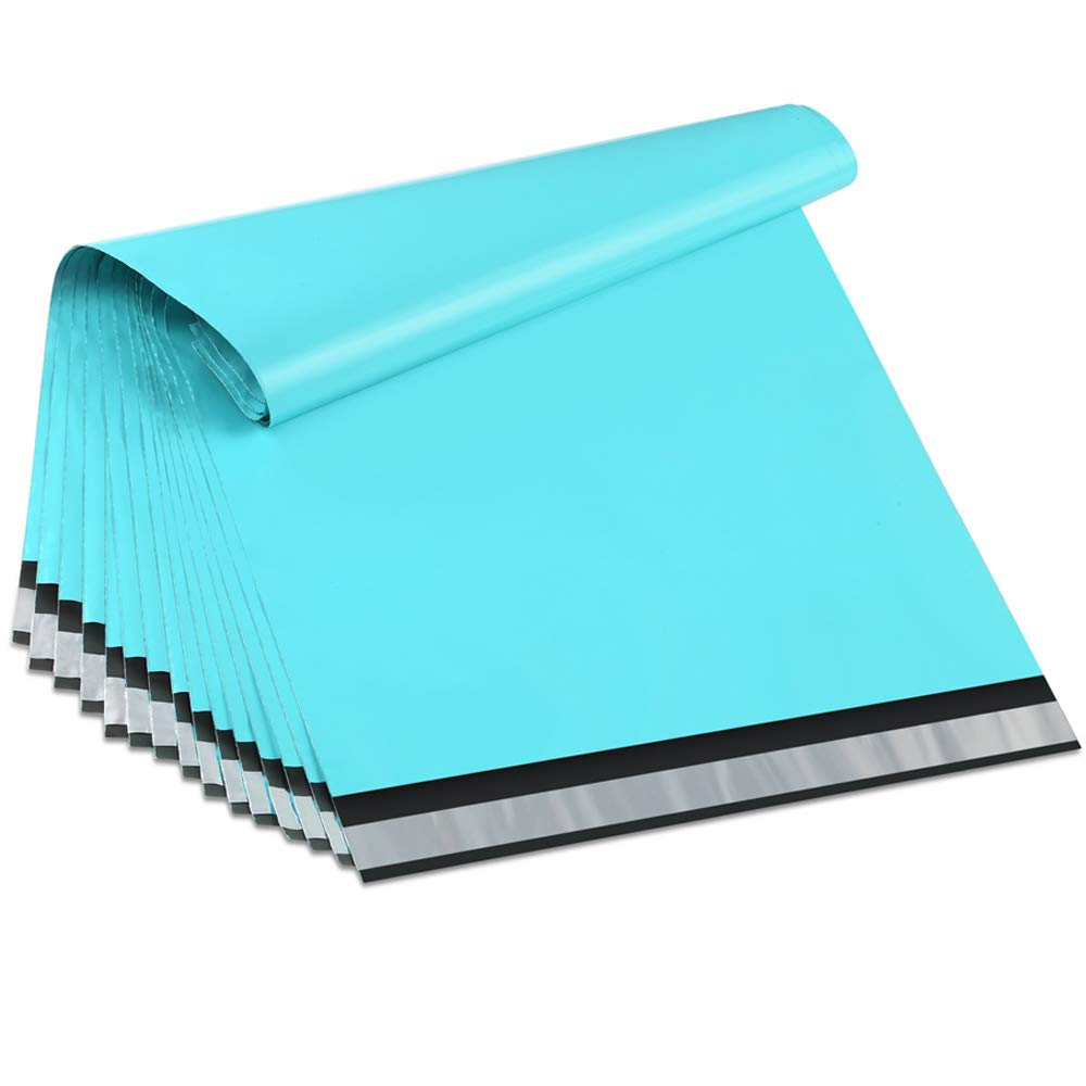 100pcs 25.5x33cm/10x13 Inch Teal Green Poly Mailers Boutique Shipping Bags Couture Envelopes
