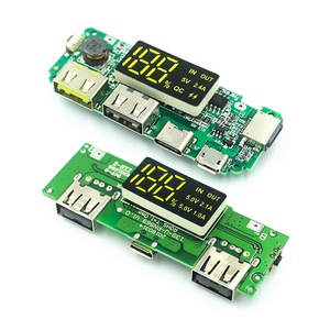 LED Dual USB 5V 2.4A Micro/Type-C USB Mobile Power Bank 18650 Charging Module Lithium Battery Charger Board Circuit Protection