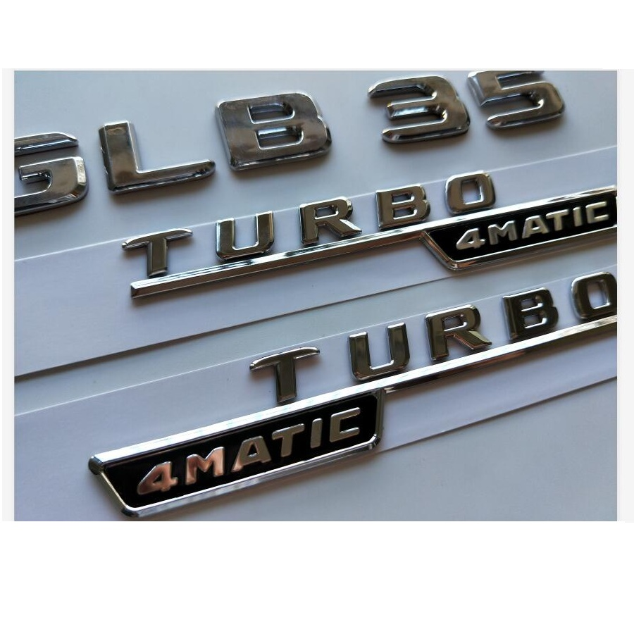 Chrome Trunk Letters Emblems Emblem Badge for Mercedes Benz W176 W177 A45 AMG