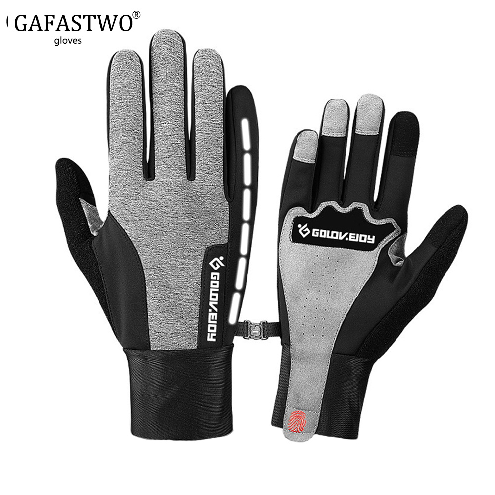 Winter Ski Plus Velvet Thick Warm Riding Gloves Men Women Windproof Waterproof Touch Screen Outdoor Sports Non-Slip Gloves