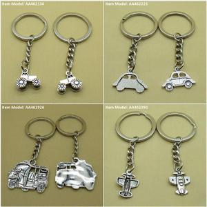 Keychain Keyring Tractor Classic Car Thailand Tuk Taxi Airplane Bag Charms Key Chains Rings(China)