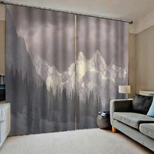 grey curtains landscape nature scenery curtain mountain  photo Blackout Window Drapes Luxury modern living room