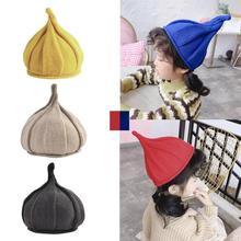 Забавная детская шапка, умелое производство, высокое качество, темперамент, вязанная остроконечная шапочка, зимняя Милая шерстяная шапка с острым носком