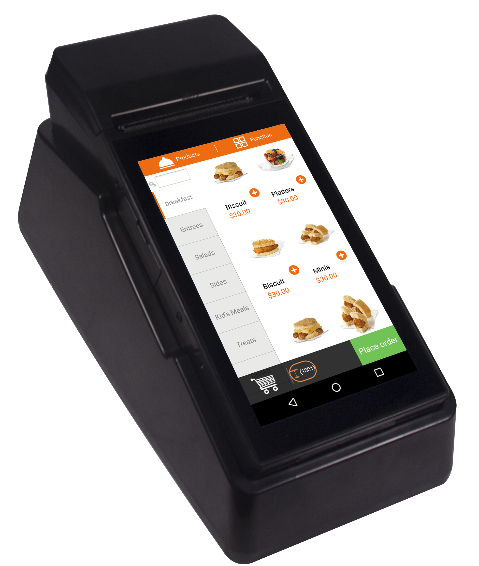 Milestone 3G Network WIFI Bluetooth Pos Terminal Built In 80mm 3inch Mobile Receipt&label Printer For Online Order Cash Payment