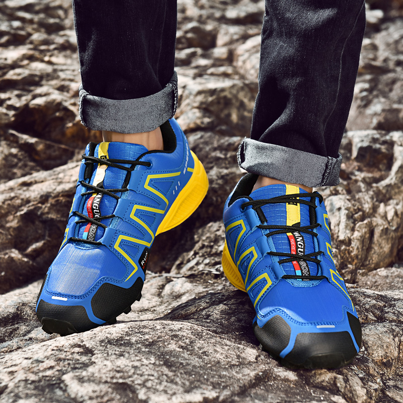 Men Sneakers Outdoor Hiking Shoes Women Trekking Shoes Lace-up Mountaineering Sports Shoes Travel Walking Sneaker Boots