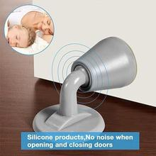 2PC Silicone Door Stopper Anti-collision Silently Sucking Buffer Hitting Shockproof Crash Pad Stop Stoppers#1024