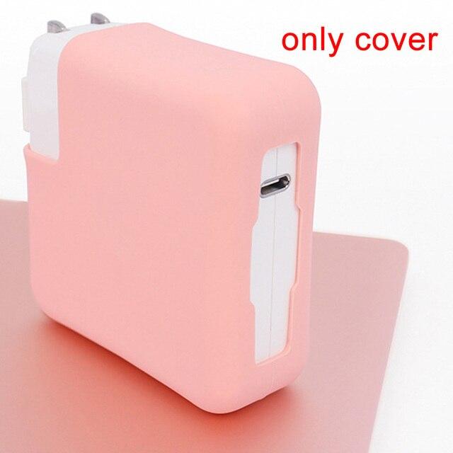מחשב נייד מטען סיליקון כיסוי ארגונית מגיני Dustproof שרוולי מחשב נייד מתאם מגן מקרה עבור MacBook מתאם