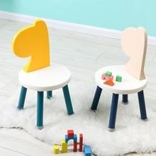 Kids Chair Children Stool Kindergarten Small Nordic Bench Enfant Taburete Madera Early-Education
