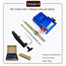 Woodworking Tool Puncher Pocket Hole Jig Woodwork Guide Repair Carpenter Kit System 9.5mm Drill Bit Slant Hole Hand Tool Set woodworking guide carpenter kit system inclined hole drill tools clamp base drill bit kit system pocket hole jig kit