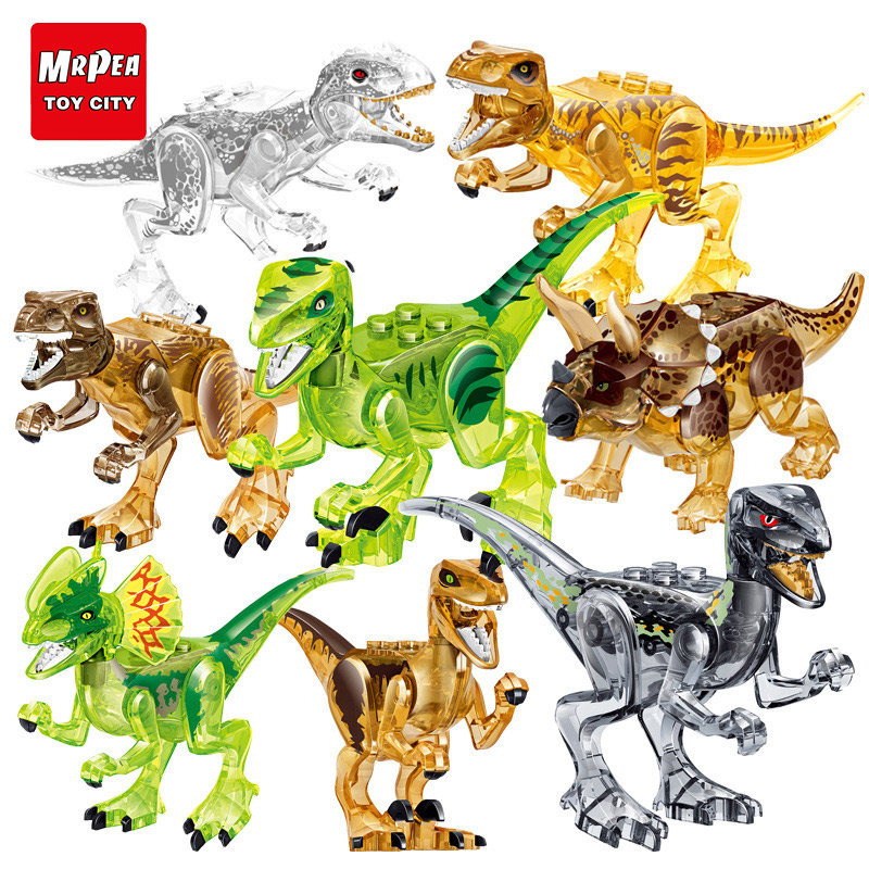 Jurassic World Park Dinosaur Animal Building Blocks Figures Bricks Toys For Childrens Gifts