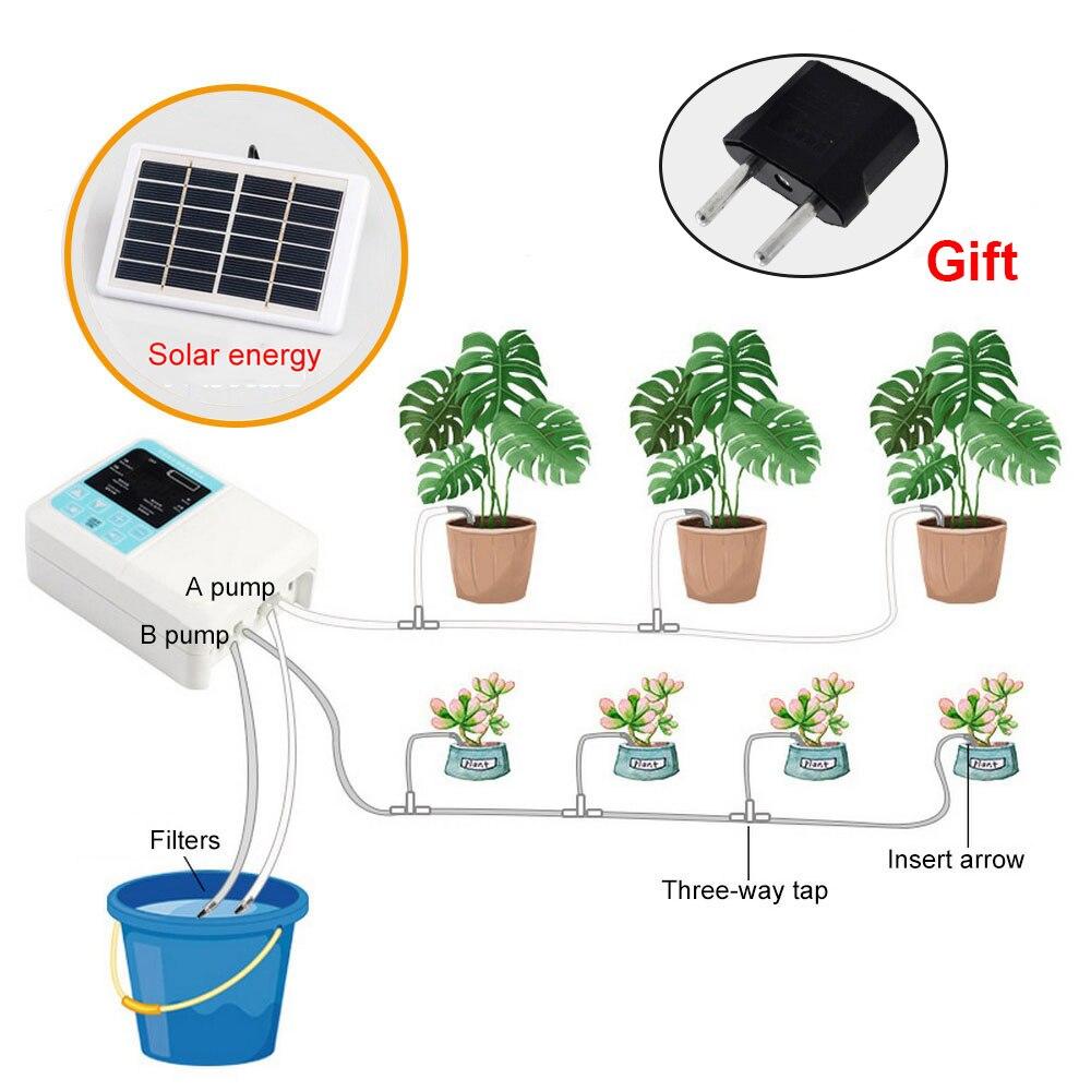 Новейшее интеллектуальное садовое автоматическое устройство для полива Солнечная энергия зарядка водяной насос Система таймера Горшечно