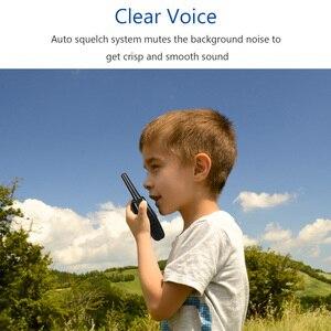 Image 3 - Walkie talkie com cancelamento de ruído, dois sentidos, 22 canais, 0.5w, vox para camping, caminhadas, ciclismo, cruzeiro, viagem de estrada (um par)