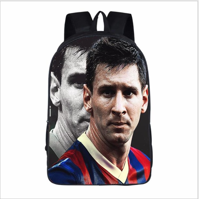 2019 13 16 inch School Shoulders Bags Barcelona Messi Backpack Printing Capacity Backpacks For Children Kids Travel Mochilas image