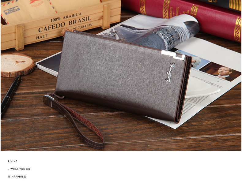 H74ba142420d4400aa6fb7c1fe237d090R - Baellerry Men Wallets Classic Long Style Card Holder Male Purse Quality Zipper Large Capacity Big Brand Luxury Wallet For Men