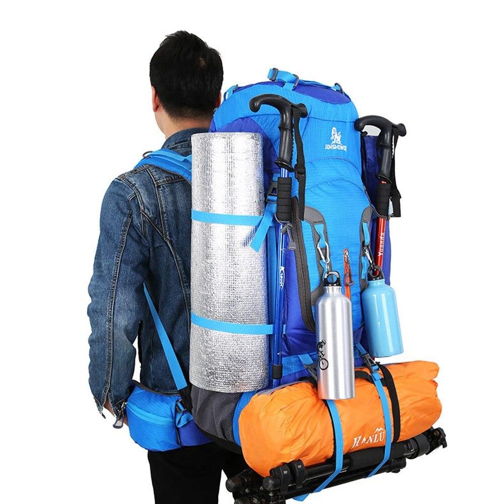 80L Camping sac à dos randonnée escalade Nylon sac Superlight Sport voyage paquet sac à dos sacs à bandoulière sac de Sport de plein air
