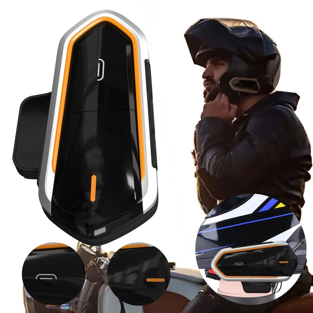 QTBE6 Motorcycle Helmet Intercom Headphones Wireless Intercom Headset