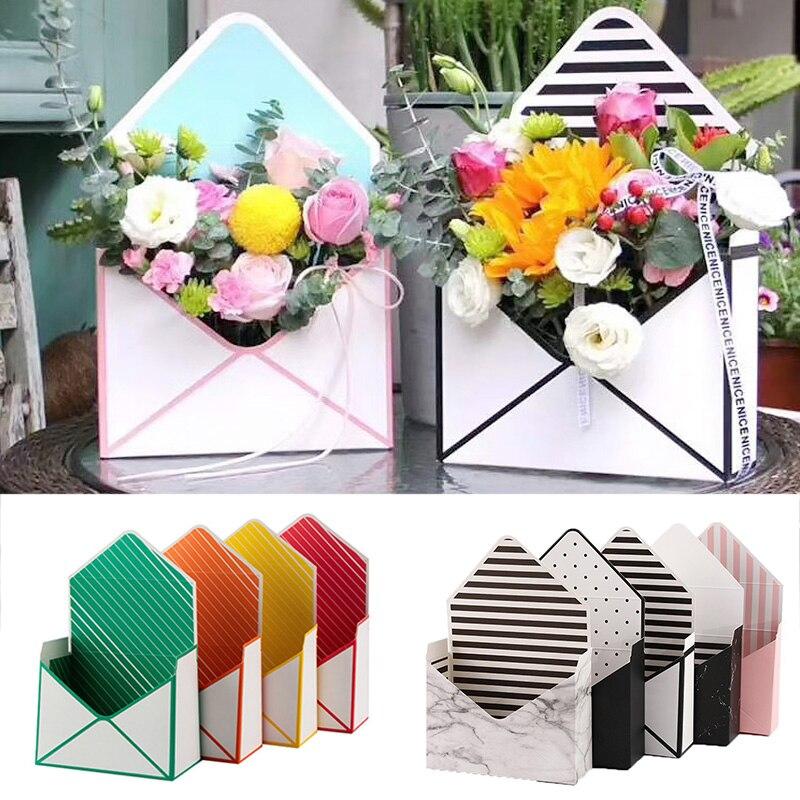 Творческий цветок коробка конверт в форме упаковки коробки цветка Подарочная коробка для хранения Свадебные обручальные кольца вечерние у...