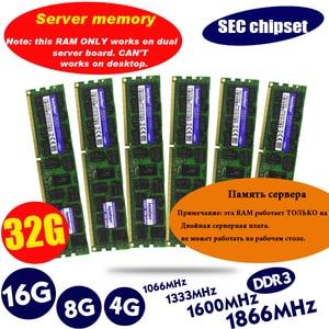 Image 1 - SEC chipset DDR3 4GB 8GB 16GB 32GB ECC server memory 1333 1600 1866MHz dimm REG ram supports X58 X79 motherboard