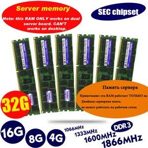 SEC chipset DDR3 4GB 8GB 16GB 32GB ECC server memory 1333 1600 1866MHz dimm REG ram supports X58 X79 motherboard
