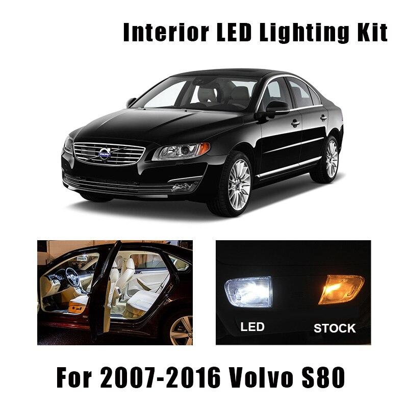 14Pcs Canbus Kit LED Interior Car Lights For 2009-2015 Volvo XC60 White Bulbs