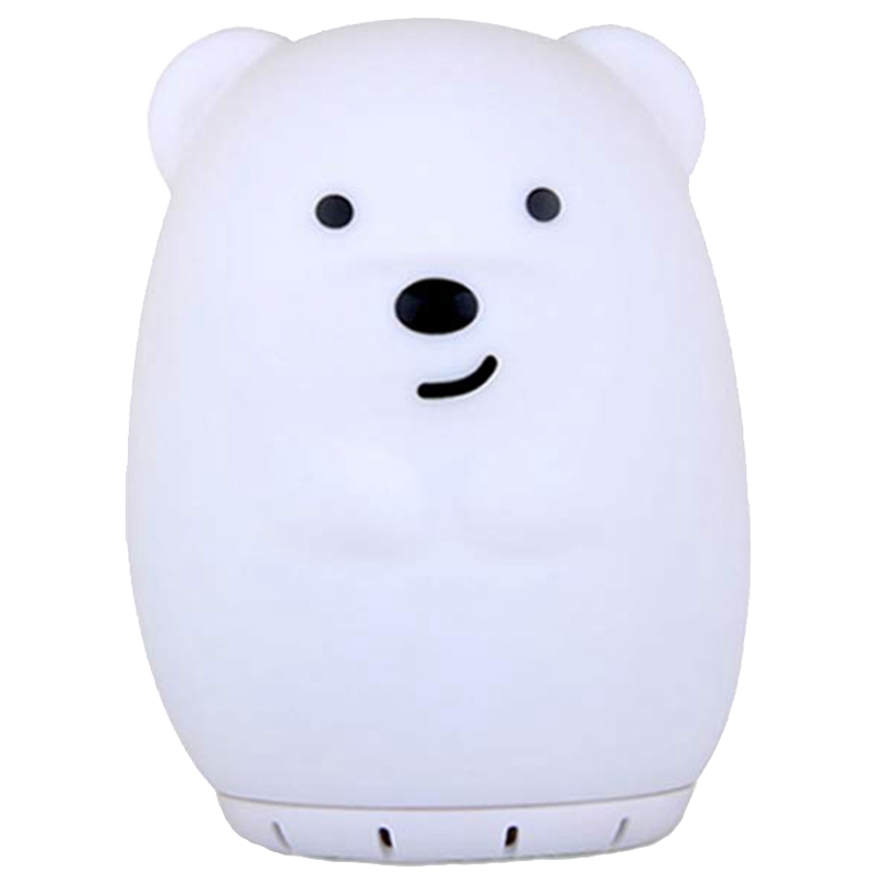 Nursery Bluetooth Music Speaker With Night Light, Cute Bear Portable And Rechargeable Baby Lullaby Soother Best Gift For Childre