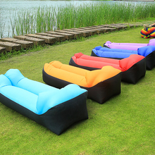 Outdoor lazy inflatable sofa air mattress nap net red air cushion bed beach swimming floating airbed folding camping recliner