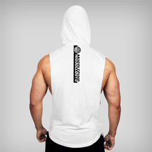 Gym Vest Undershirts Tank Tops Men Fitness Sport Singlet Clothing Brand Fashion Cotton Sleeveless Shirts Bodybuilding Workout