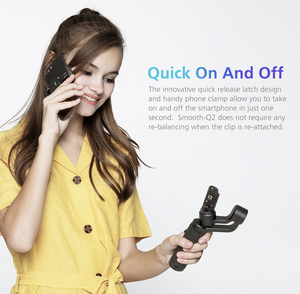 Image 4 - Zhiyun Smooth Q2 Truly Pocket Size Portable 3 Axis Smartphone Handheld Gimbal for iPhone 11 Pro Max XS X 8P 8 Samsung S10 S9 S8