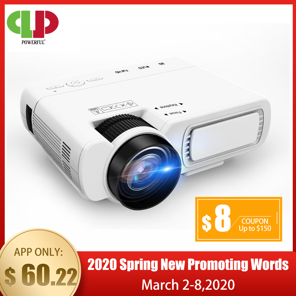 POWERFUL T5 mini Projector 800 600dpi Support 1080P 2600 lumens Android Optional wireless connect Phone proyector Home Cinema