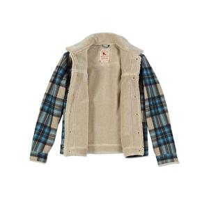 Image 3 - Simwood 2020冬の新ムートントリミングチェックウール混紡ジャケット男性ファッション暖かいプラスサイズコートSI980766