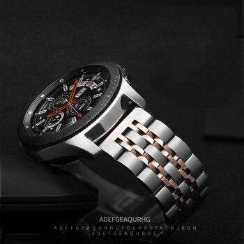 22mm Stainless Steel band for Samsung Galaxy watch 3 45m/46mm Gear S3 Frontier metal bracelet Huawei watch GT 2-2e-pro 46 strap