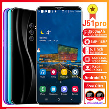 Unlocked cell phones J51 pro MTK6595 Smartphone Octa Core Mobile phone 6.1inch Cellphone 6GB+128GB Cell phone 6MP+18MP