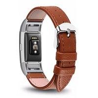 Correas de cuero genuino para Fitbit Charge 2, correa de reloj de pulsera inteligente para Fitbit Charge2, repuesto de pulsera con control del ritmo cardíaco