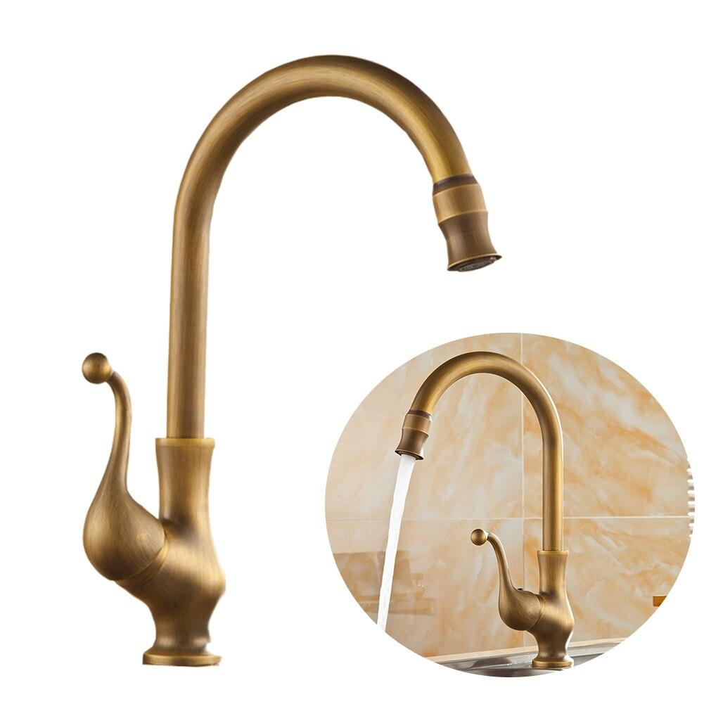Anti Corrosion cuivre robinet remplacement antirouille Antique cuivre robinet facile installer rotatif chaud froid pour salle de bains cuisine