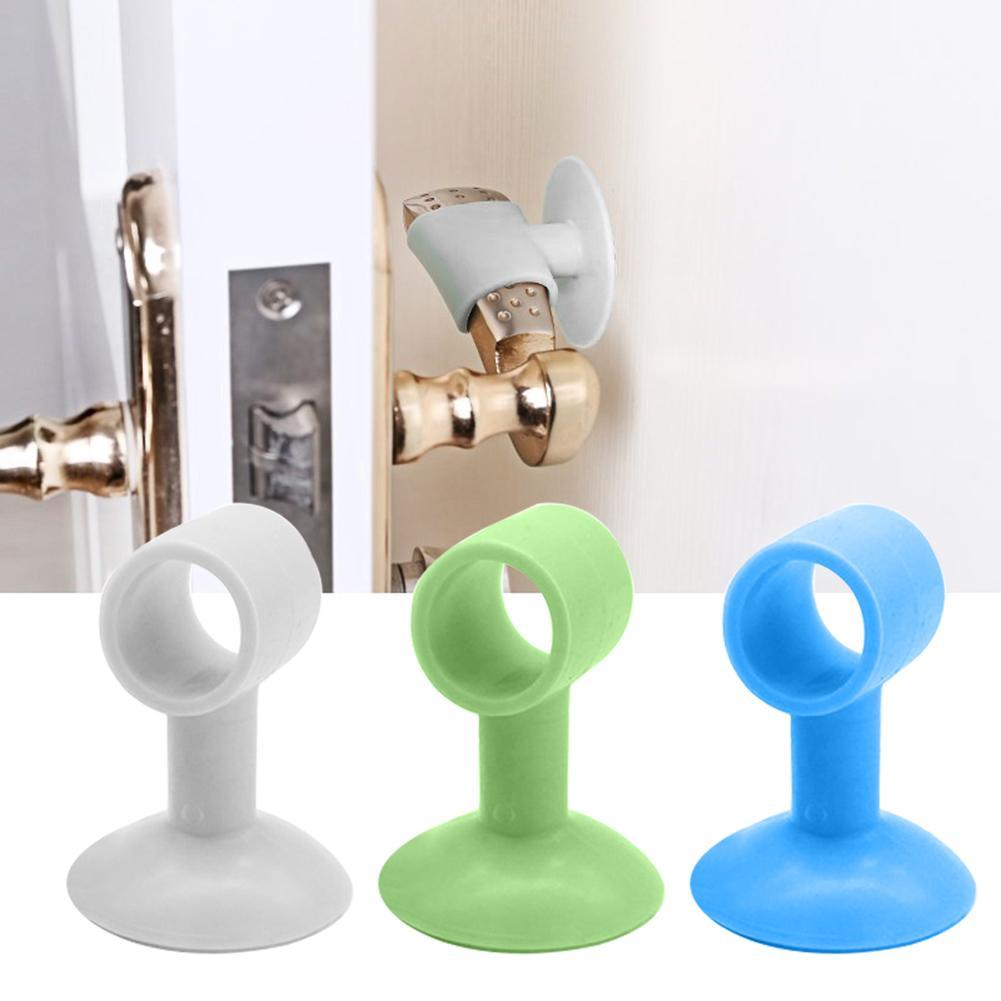 2Pcs Doorknob Wall Mute Crash Pad Door Cabinet Door Handle Lock Silencer Anti collision Silicone Doorknob Cushion Door Stopper|Door Stops| - AliExpress