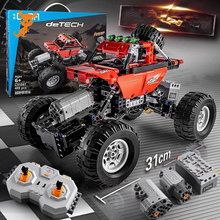 Big Foot RC SUV Car Blocks Technic Series Remote Control Building Blocks Racing Car Bricks Educational Toys Car For Children motorized 20005 technic car series remote control vehicle rc truck model building blocks bricks compatible with 42043 kids toys