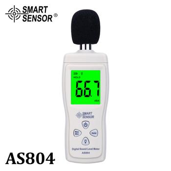 Cyfrowy miernik poziomu dźwięku pomiar 30-130dB hałas dB miernik decybeli monitorowanie testery Metro narzędzie diagnostyczne inteligentny czujnik AS804 tanie i dobre opinie SMART SENSOR 30 ~ 130dB 1 2 inch Condenser Microphone 30~130 dBA ±1 5dB 31 5HZ~8 5KHZ 4 digits 0 1dB According to IEC651 TYPE 2 ANSIS1 4 TYPE 2
