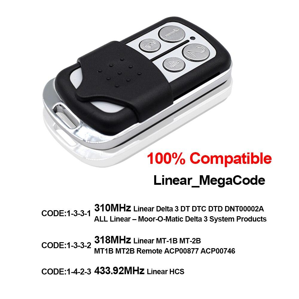 433MHz Remote Control Clone Garage Door Remote Control 315MHz mini Control Smart 4 in 1 Door 868MHz Remote Control Gara