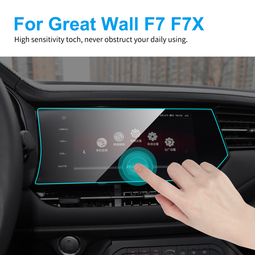 TPU Car GPS Navigation Screen Protector For Haval Great Wall F7 2017 2018 2019 F7X TPU Screen Protective Film Car Accessories