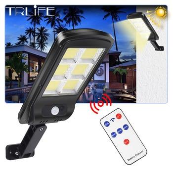 ultra Big COB Solar Light PIR Motion Sensor 8000 lumens christmas light outdoor Solar street lamp Waterproof Lamp&Remote Control
